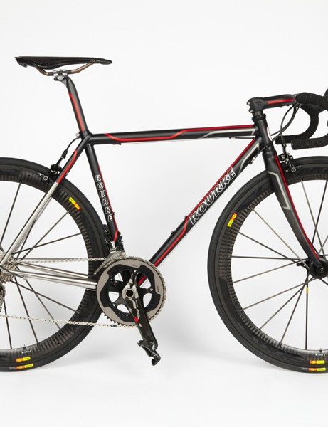 Jason Rourke built this bike for his famous framebuilding father and shop owner, Brian Rourke