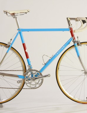 This is the bike of Robert Wade, a framebuilder at Swallow Bikes