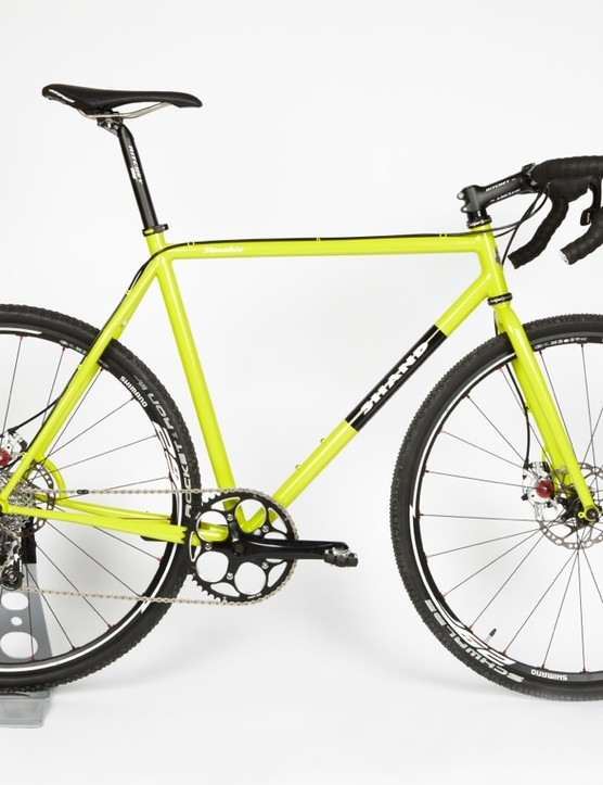This Shand cyclocross bike is made of 853 tubing