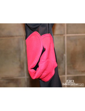 On this Pearl Izumi chamois, the front and rear of the overall pad are balanced