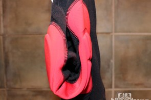 On this Bontrager chamois, the overall pad is higher in the front, but the thicker part of the pad is balanced front-to-back