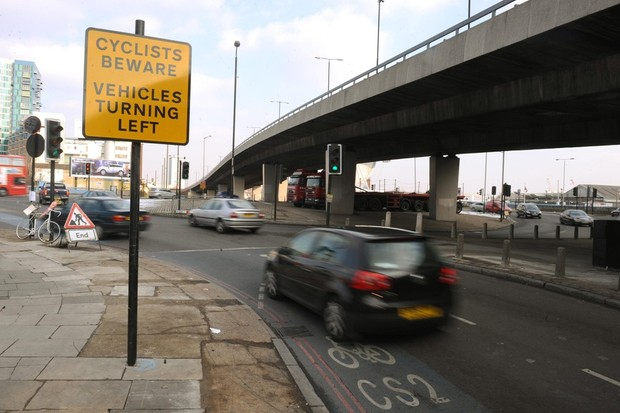 A petition wants the mayor to speed up changes that would make lethal junctions like Bow roundabout safer for cyclists