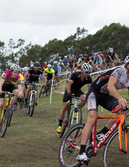 Rapha SuperCross wasn't just for the elite's - the open men's saw an enormous field