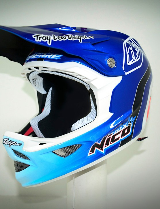 A custom Troy Lee Designs helmet is a sure sign that you're on top of your game!