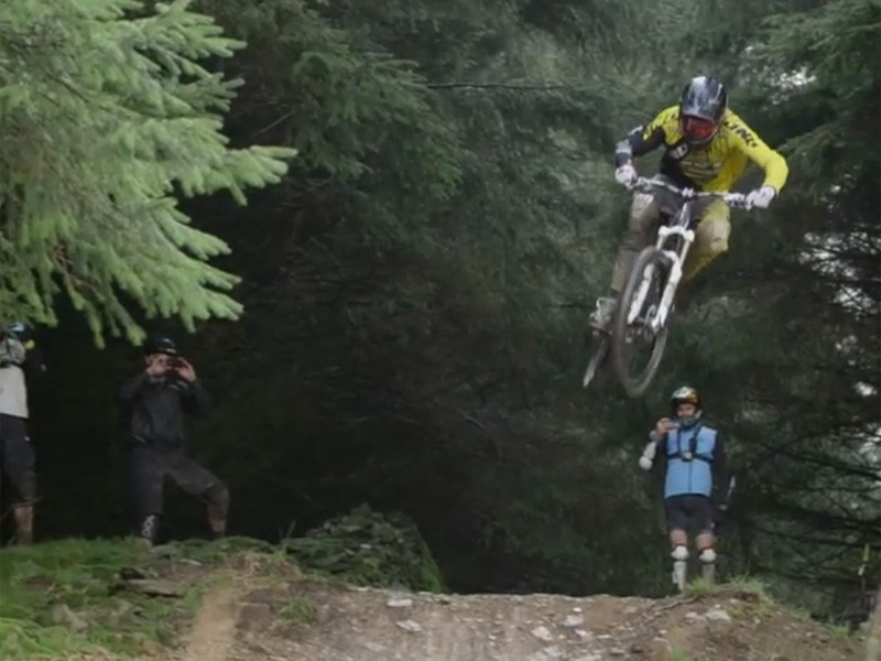 Dan Atherton showing how it's done at BikePark Wales
