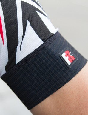 The arms feature a form-fitting cuff on the Giordana Trade FR-C jersey