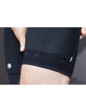 The Laser bib shorts had unobtrusive leg grippers that served the purpose