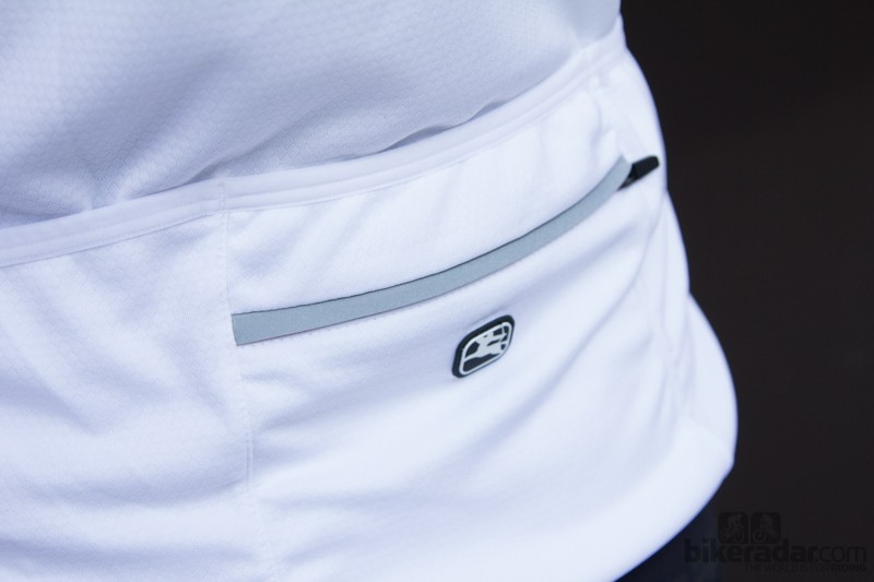 Giordana Laser jersey - multiple pockets and a zippered security pocket
