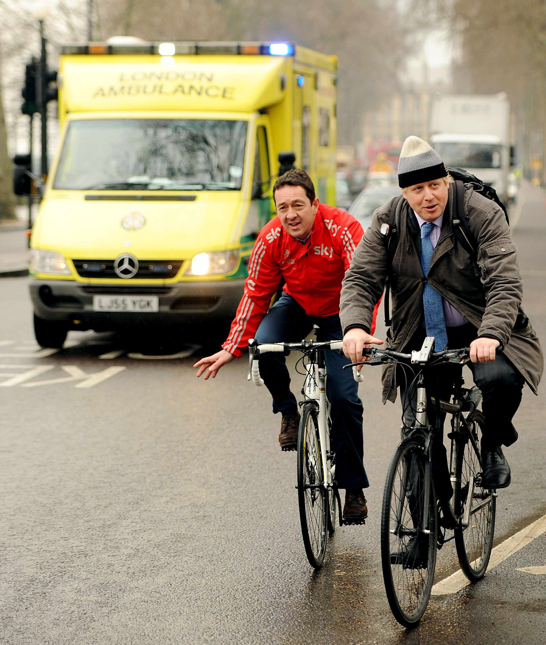 Boris Johnson promised Chris Boardman he wouls investigate whether London could follow Paris and ban HGVs in peak traffic