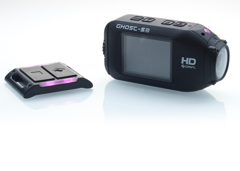 The included remote can operate up to five separate Drift Innovation Ghost-S cameras. The multicolor LED gives a quick visual indication as to what's going on, too