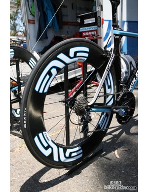 Want wheels like the UnitedHealthcare team? Chris King is now offering similar wheelsets built around its own hubs in-house. The current option list doesn't include these ultra-deep section tubulars just yet but there are plenty of choices