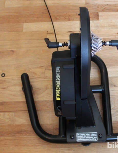 CycleOps Silencer: The heavy magnetic trainer features solid, sure-footed construction