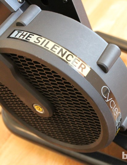 CycleOps Silencer: The magnetic resistant unit is relatively quieter than many other trainers