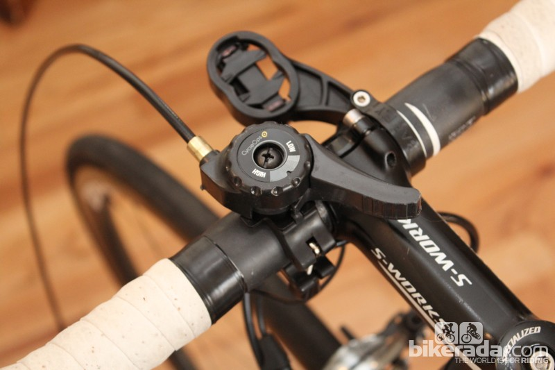 CycleOps Silencer: There are five resistance levels controlled by this indexed lever