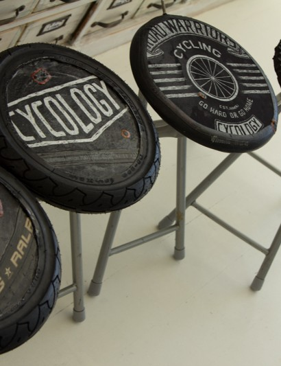 Sarina told us she made stools for a local bike store many years ago - wish we had these in our workshop