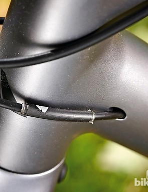 Internal routing keeps the cables out of muck's way and makes for comfortable shouldering