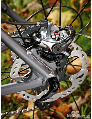 Disc brakes offer reliable stopping in the muddy world of cyclocross - and on tarmac of course