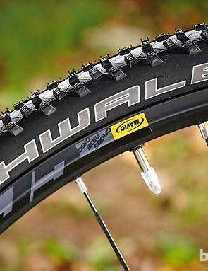 Mavic's wide Crossride rims give the Rocket Ron tyres a grippy profile