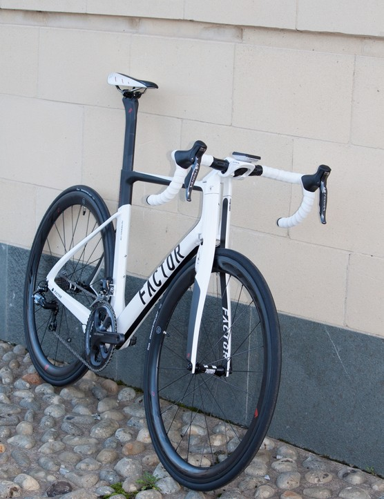 The split fork and down tube are said to produce impressive aerodynamic gains