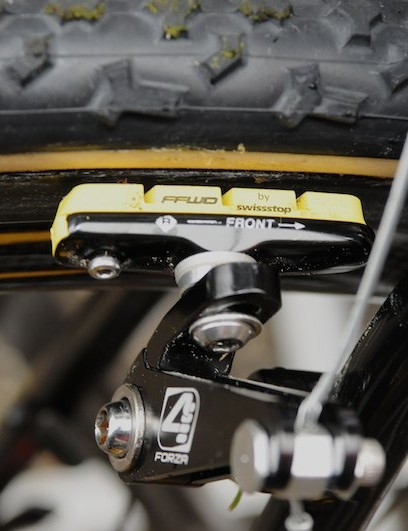 The FFWD brake pads are Swissstop yellow