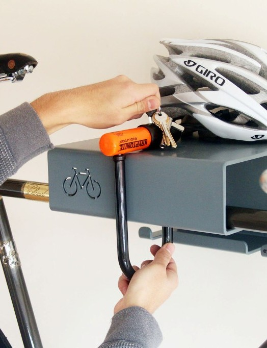 Users can lock bikes into the Bikes Shelf for extra security