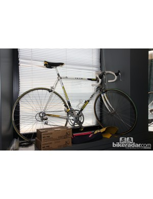 This old TVT 92 was among the earliest carbon frames to see service in the professional ranks