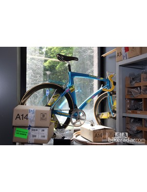 This was Vitus's idea of an aero carbon road bike back in the mid-90s