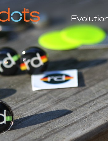 RaceDots are designed to hold your race numbers on without the hassle of safety pins