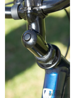 The Trek MT60 shows its pricepoint with the quill stem