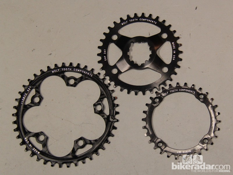 Wolfh Tooth Components is a small Minneapolis, Minnesota, start-up producing narrow-wide chainrings in many different tooth counts and bolt circle diameters