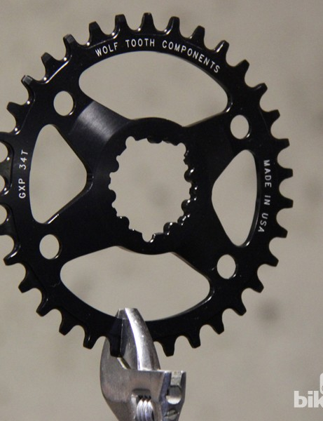 Wolf Tooth offers its direct-mount chainrings for SRAM's GXP cranksets in 26-36T versions
