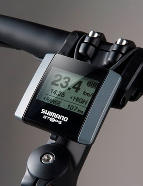 The groupset's performance stats are displayed in a computer