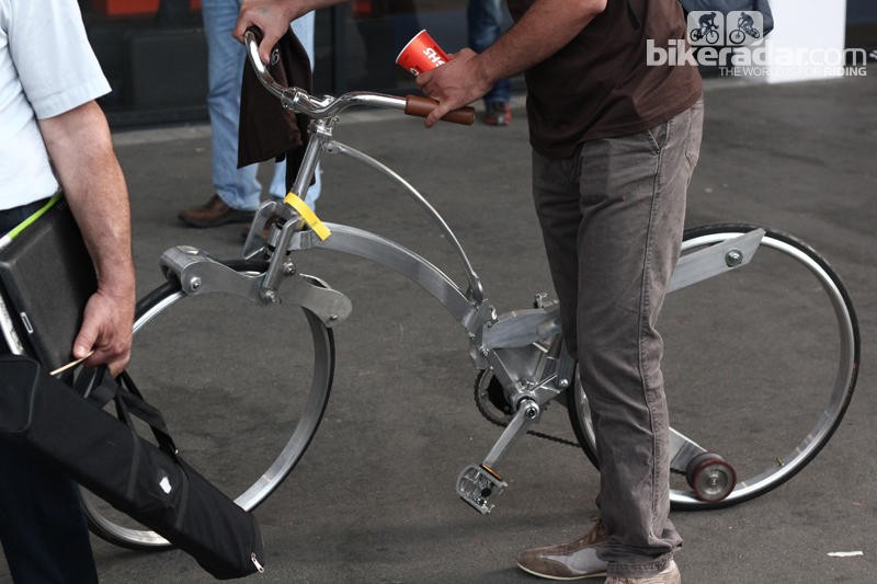 The spokeless wheel is an interesting concept - this example that emerged at this year's Eurobike show