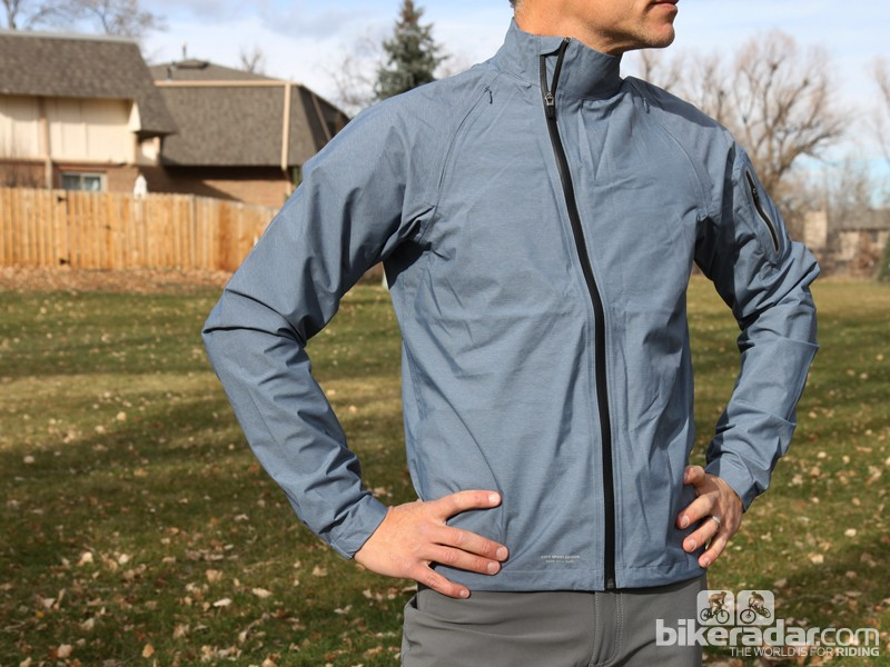 Giro builds the New Road Waterproof Jacket with a two-layer Pertex shell and taped seams