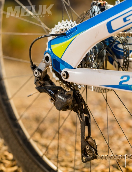 Shimano XT rear mech and a RaceFace Evolve crankset