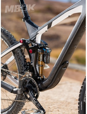 The Fox Float X rear shock dealt with the bumps admirably