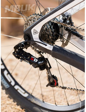 The e*thirteen TRSr double crankset seemed an odd choice for a bike that's designed for gravity-orientated riding