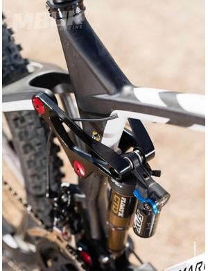 The Attack Trail Quad Carbon XT Pro's Quad-Link 3.0 suspension system