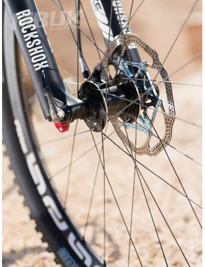 The bike is built around 650b wheels and features a RockShox Pike shock