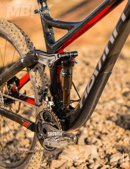 Devinci's full sus bikes all feature Dave Weagle's split pivot suspension system