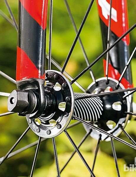 The Tarmac SL4 Sport features a lot of Specialized own-brand kit, including the Axis wheels