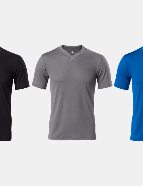 Kitsbow's $85 V-Neck base layer comes in black, grey and blue and is available in sizes XS through XL