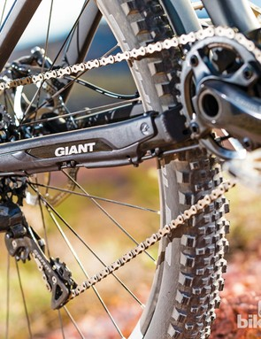 SRAM's X01 1x11 speed transmission gives a great range of gears and performed without fault