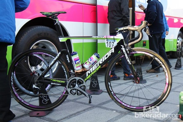 Merida Reacto Evo bikes like this were stolen in the raid