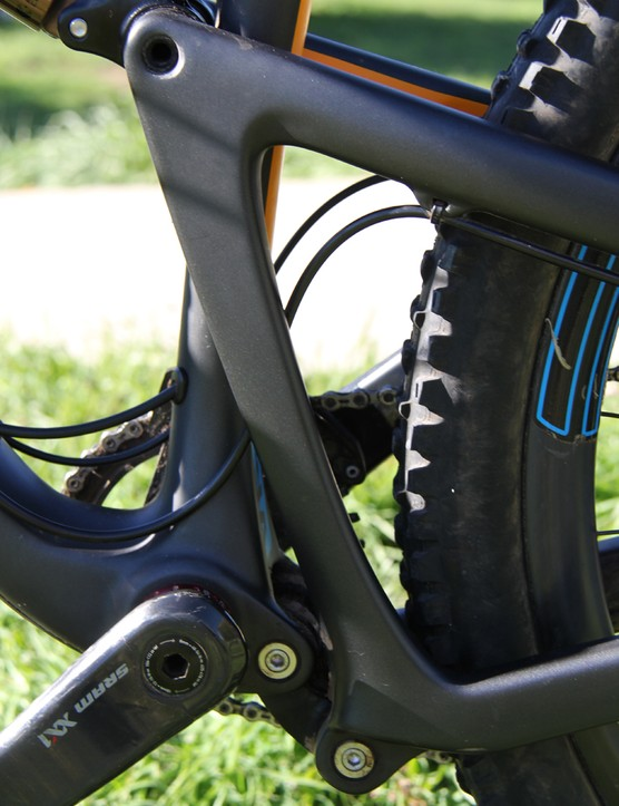 The Bronson's VPP suspension consists of a pair of counter-rotating links that control its 150mm of rear suspension