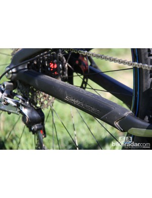 The frame comes with a smart-looking chainstay protector