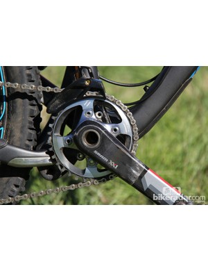 Our Bronson test bike came with a 34T chainring. We'd likely opt for a 32T for some of the steeper trails we frequently ride