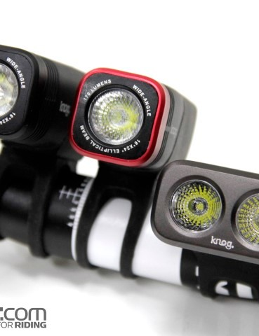 From left to right - the Knog Blinder ARC 5.5, ARC 1.7 and Road 3