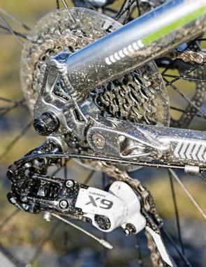 Boardman Pro FS: SRAM X9 gears have gained ball-bearing internals