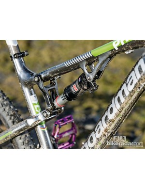 Boardman Pro FS: The Monarch RL rear shock has dual flow rebound and a lockout lever